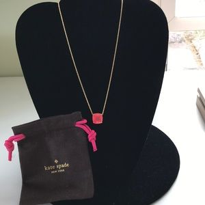Kate Spade pink stone necklace